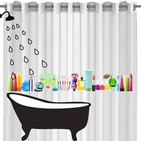Miss Squidolette Shower Curtain
