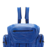 Alexander Wang Blue Waxpaper-effect Leather Marti Backpack
