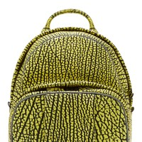 Alexander Wang Yellow And Black Leather Contrast Tip Dumbo Backpack