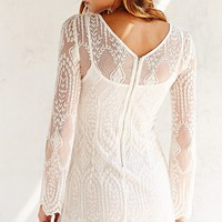 Ecote Embellished Mesh Dress - Urban Outfitters
