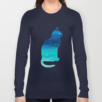 SEA CAT Long Sleeve T-shirts by Catspaws | Society6