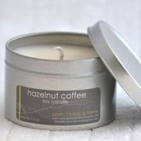 Hazelnut Coffee Soy Candle Tin 8 Oz on Luulla