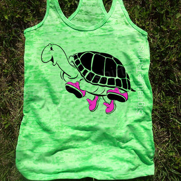 Turtle Workout Tank, Gym Tank, Running Tank, Gym Shirt, Running Shirt, Workout Shirt, crossfit tank, workout clothes, running shoes, top