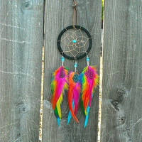 Feather Dream Catcher, Dream Catcher, Rainbow Dream Catcher, Dreamcatcher,
