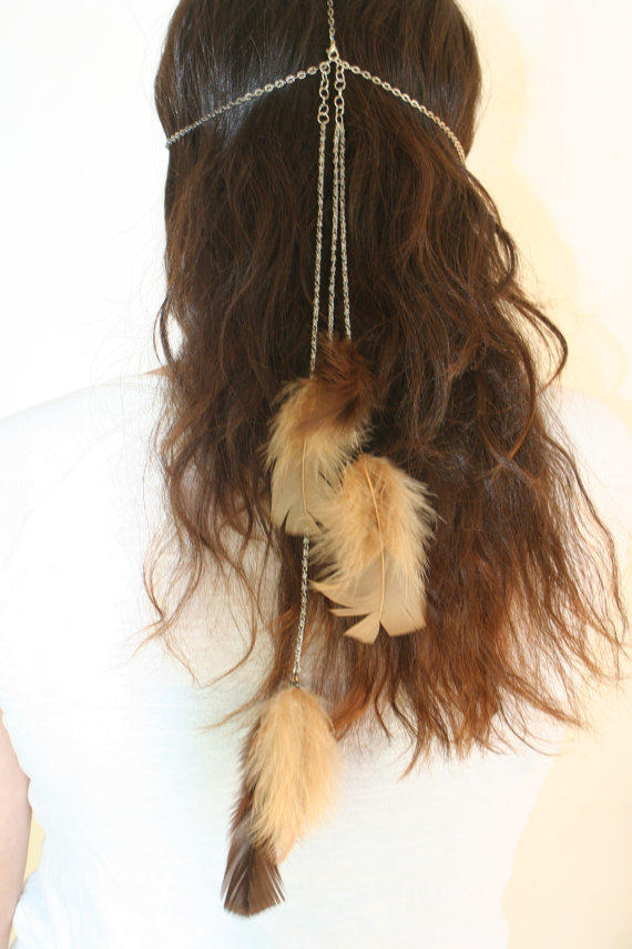 Chain Head Dress Feather Clasp Popular Limited by HaleyLouise