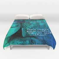 Aqua Buddha Duvet Cover by Intrinsic Journeys