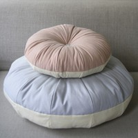 cream donut / cuddly designer pouffe in cozy pastels / by detailF