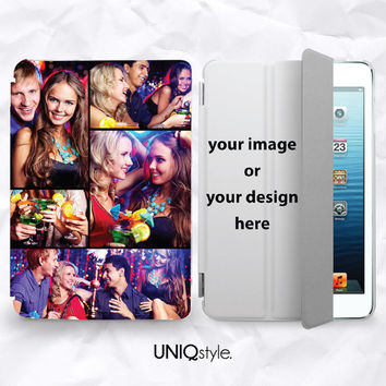 Personalized photo print smart cover for iPad mini, iPad mini 2 retina, iPad Air - custom made with your image or design, DIY picture case