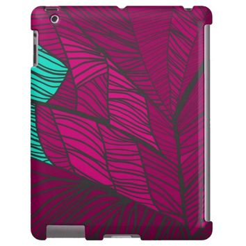 Wild 2 Bright Pink and Teal iPad Case by KCS