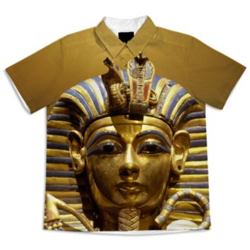 Egypt King Tut Short Sleeve Blouse created by ErikaKaisersot | Print All Over Me