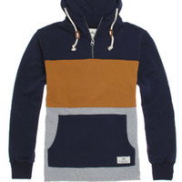 Rusty Coltrane Quarter Zip Hoodie - Mens Hoodie - Blue -