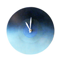 Blue Ombre Upcycled Wall Clock