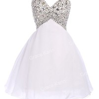 Short Mini Homecoming Cocktail Evening Prom Dresses Ball Gown Stock Size 2 - 16