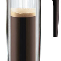 Mix Coffee Pot by Nuance, Mix and Match Glass Bottoms and Multi Color Tops - Pure Modern Design Contemporary Kitchen Accessories