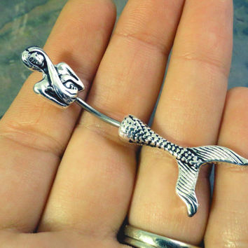 Mermaid Belly Button Jewelry Ring In-N-Out