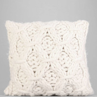Cable-Knit Pillow- White One