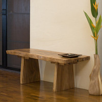 Natural Edge Bench: Earth Friendly Furniture and Products - Terra Furnishings