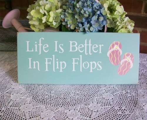 Beach Wood Flip flop Sign