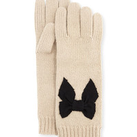 stitched bow gloves, beige - kate spade new york - Deco beige