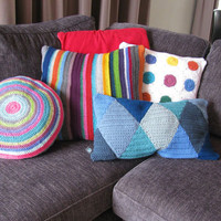 Candy Colored Polka Dot Cushion Cover