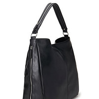 Zippered Faux Leather Bag
