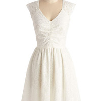 ModCloth Mid-length Sleeveless Fit & Flare Twirling at Twilight Dress
