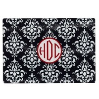 Monogrammed Damask Cutting Board