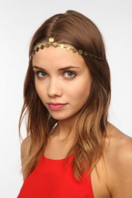Grecian Coin Goddess Chain Headwrap