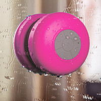 Rose Wireless Portable Waterproof Suction Shower Mini Bluetooth Mic Speaker | Ac.y.c