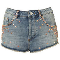 Petite Studded Denim Hotpants - New In This Week  - New In