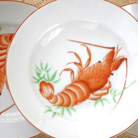 Vintage Soup Bowls Japanese Shrimp STCO Honolulu Brand