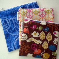 Reusable Snack and Sandwich Zipper Bag Set of 3 Bags 2 Medium and 1 Large