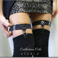 Sock Garters Thigh high Garters / Catherine Cole Studio / Made in USA / Adjustable steampunk / A  timeless vintage classy style
