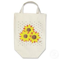 sunflowers, AC Canvas Bag from Zazzle.com