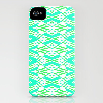 Aqua and Green... iPhone Case by Lisa Argyropoulos | Society6