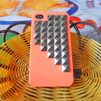 Fashion orange hard Case with ancient  pyramid for Apple iPhone 4 case,iPhone 4S case,iPhone 4GS case  SJK-1857