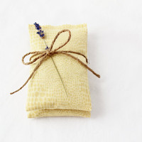 Modern Mustard Yellow Lavender Sachets Abstract Geometric Bridesmaid Gift Under 25