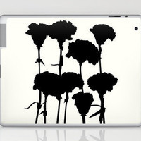 Carnations_Black Laptop & iPad Skin by Garima Dhawan | Society6