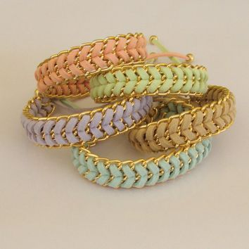 Pastel Sorbet - Handwoven Stacking .. on Luulla