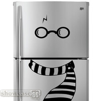 Chilly Potter Fridge Art - Vinyl Wall Art - FREE Shipping - Fun Wall Decal Inspired by Harry Potter