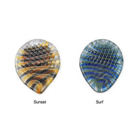 RIDGED GLASS GUITAR PICKS