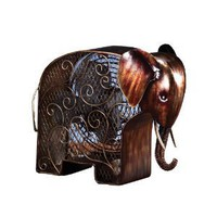 Deco Breeze DBF0373 Cast-Metal 13-Inch 3-Speed Elephant-Shaped Decorative Fan