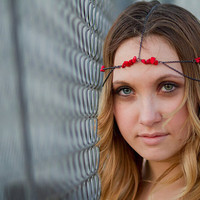 Gunmetal Hematite Red Rock Bead Headdress, Head Chain, Hair Chain, Head Piece, Hair Jewelry