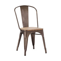 Bistro Dining Chair in Rustic Wood - Set of 2