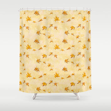Leaves pattern Shower Curtain by Timone | Society6