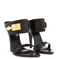 VERSUS | Leather Sandals with Gold Clasp | Browns fashion & designer clothes & clothing