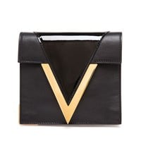VERSUS | Leather Day Bag with Gold V | Browns fashion & designer clothes & clothing