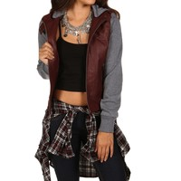 Promo- Burgundy Fall Favorite Leather Jacket