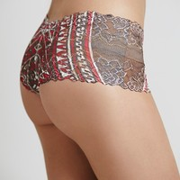 Private Arts Womens Maroon Tribal Hipster - Maroon Tribal