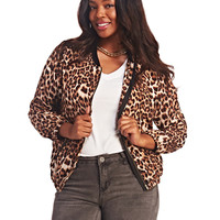 Leopard Bomber Jacket | Wet Seal+